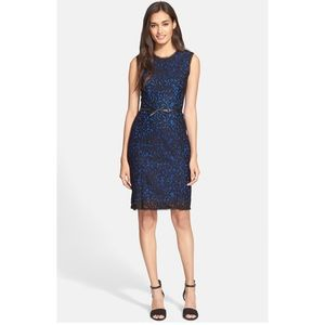 MILLY I Floral Lace Sheath Dress